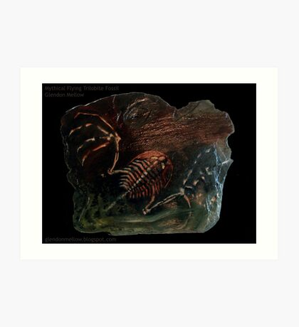 Mythical Flying Trilobite Fossil I Art Print