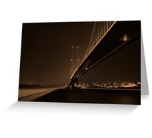 Night Time Crossing Greeting Card