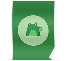 Green Cat Poster