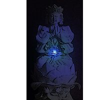 Glowing Tranquil Buddha Photographic Print
