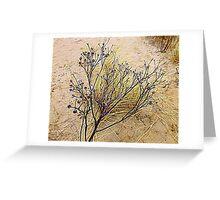 Beach Weeds Greeting Card