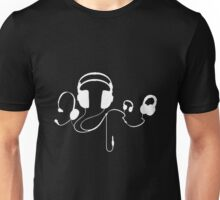 Headphones WHITE T-Shirt