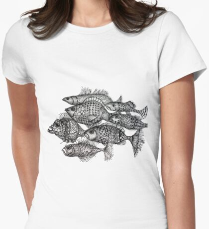 Poisson Womens Fitted T-Shirt
