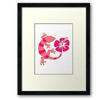 Gecko hibiscus Framed Print