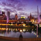 Melbourne from the Arts Centre by Alf Caruana