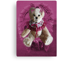RIBBONS,BOWS AND LACE,CUTE BEAR PICTURE AND OR CARD.. Canvas Print