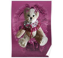 RIBBONS,BOWS AND LACE,CUTE BEAR PICTURE AND OR CARD.. Poster