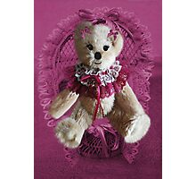 RIBBONS,BOWS AND LACE,CUTE BEAR PICTURE AND OR CARD.. Photographic Print