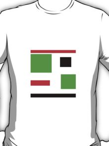 Green, black, red, blocks design T-Shirt