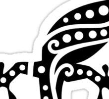 Black gecko design Sticker