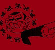 12 Evil Monkeys (black ink) by jayveezed