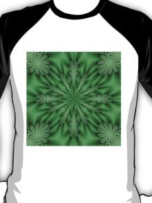Green Abstract Flowers T-Shirt