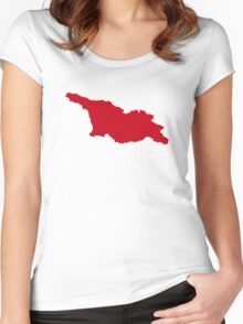 Georgia map Women's Fitted Scoop T-Shirt