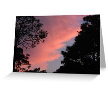 Sun Setting Behind the Clouds Greeting Card