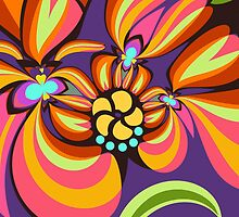 Colourful floral fantasy by walstraasart