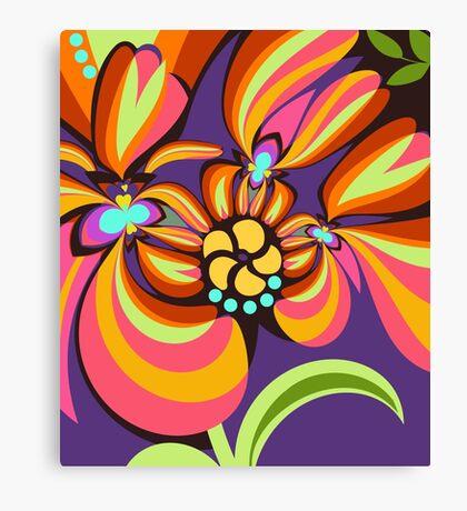 Colourful floral fantasy Canvas Print