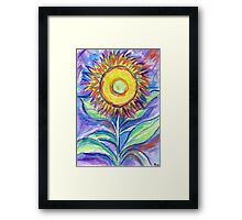 Flagler Beach Sunflower Framed Print