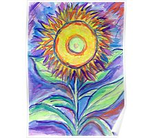 Flagler Beach Sunflower Poster