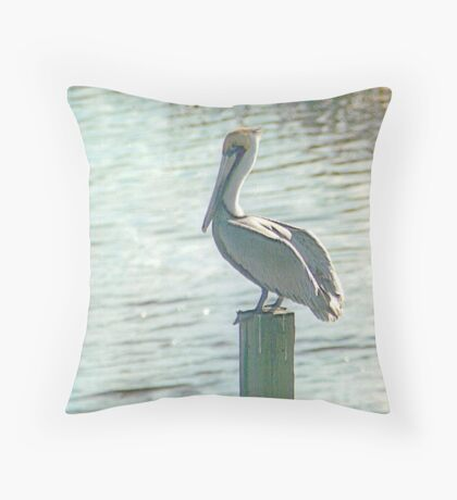 Pelican Roost Throw Pillow