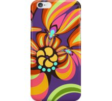 Colourful floral fantasy iPhone Case/Skin