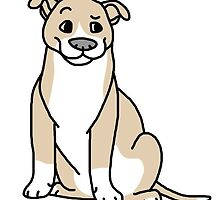 Fawn and White Pittie by ShelterStaffie