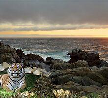 982-Siberian Shoreline Sunset by George W Banks