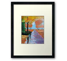 October in the Park Framed Print