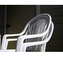 THE original White Plastic Chairs Photographic Print