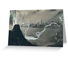 "NYC Skyline with ESB ""tintype"" photograph Greeting Card"