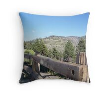 Safety Barriers Throw Pillow
