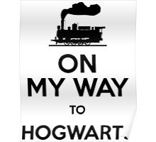 On My Way To Hogwarts (Steam-Train) Poster