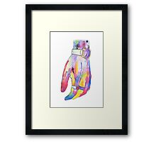 Harry Styles Watercolor Hand Framed Print