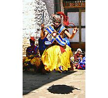 Leaping Masked Monk, Bhutan Photographic Print