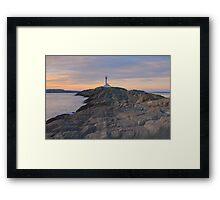Cape Forchu Lighthouse - Nova Scotia, Canada Framed Print