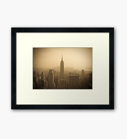 Empire State Building and Manhattan Skyline (Alan Copson ©) Framed Print