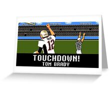 Tecmo Bowl Touchdown Tom Brady Greeting Card