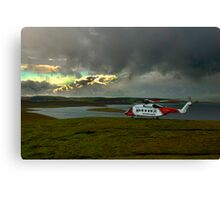 Touchdown. Canvas Print