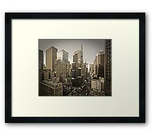 Broadway looking towards Times Square - Manhattan  Framed Print