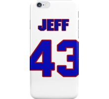 National baseball player Jeff McCurry jersey 43 iPhone Case/Skin