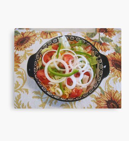 SIMPLE SALAD Canvas Print