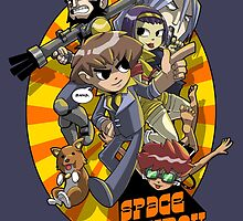 Space Cowboy vs. the Bounties by claygrahamart