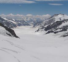 Glaciers on Jungfraujoch by Laurie Puglia