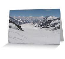 Glaciers on Jungfraujoch Greeting Card