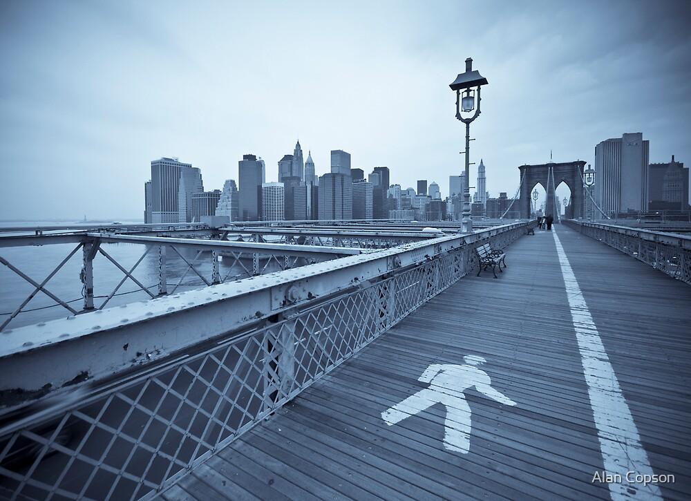 Brooklyn Bridge over East River. New York City. (Alan Copson ©) by Alan Copson