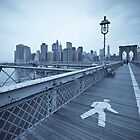 Brooklyn Bridge over East River. New York City. (Alan Copson ) by Alan Copson