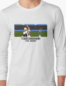 Tecmo Bowl Touchdown Tom Brady Long Sleeve T-Shirt