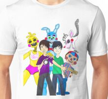 Dan And Phil - Five nights at freddy's Unisex T-Shirt
