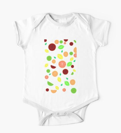 Colorful citrus background (White) One Piece - Short Sleeve