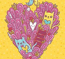 Valentine's cats by Anna Alekseeva