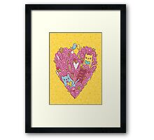 Valentine's cats Framed Print